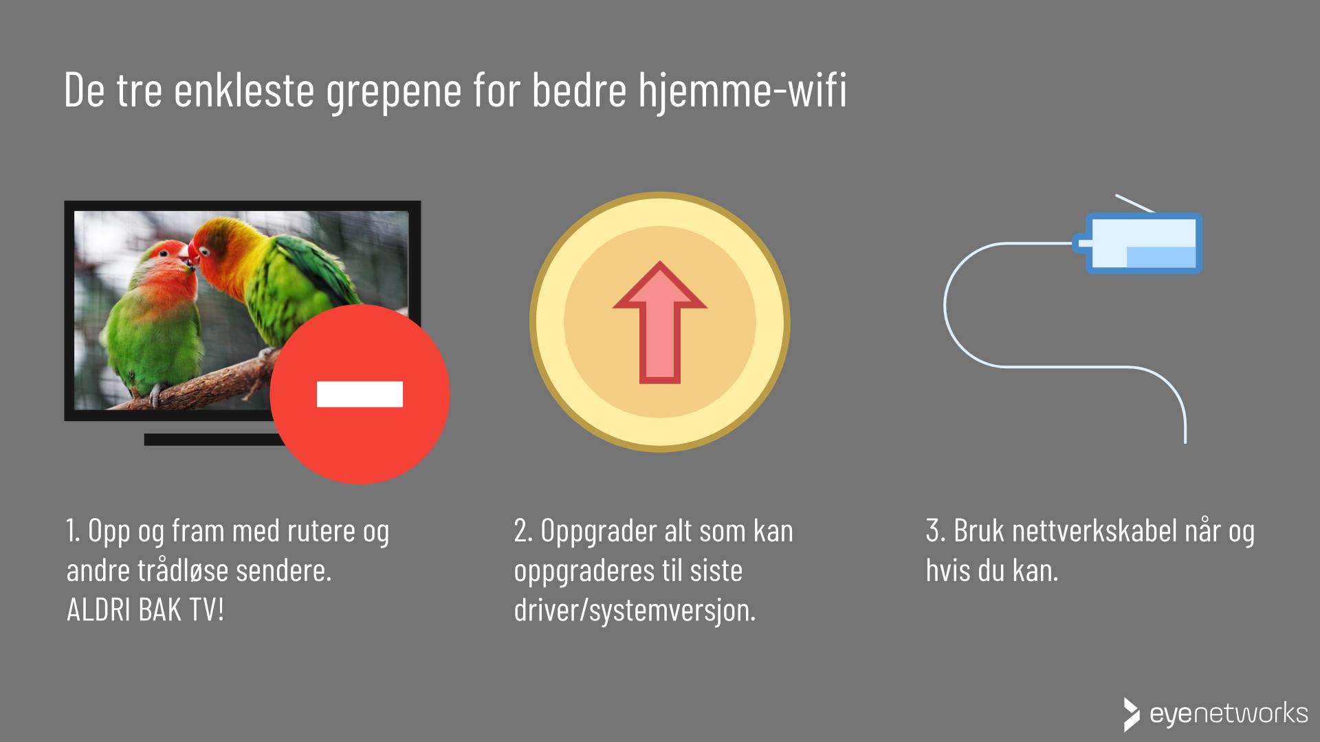 Bedre wifi: De tre enkleste, viktigste grepene du kan ta uten å forlate huset