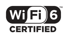 Wi-Fi 6 Certified (logo fra Wi-Fi Alliance)