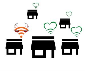 En wifi-skanning avslører naboer med trådløse innstillinger som kan påvirke nettet ditt negativt.