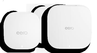 eero 6 and eero pro 6 side by side