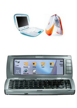 Apple's iBook was first to introduce Wi-Fi in a laptop to regular users. Nokia's Communicator 9500 was one of the very first Wi-Fi-certified mobile phones.