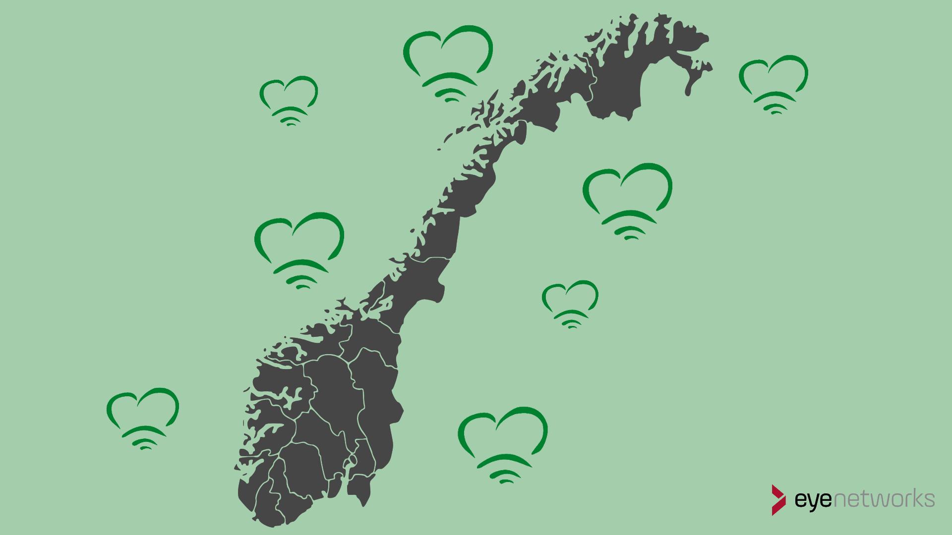 Eye Networks leverer mesh wifi til ISPer og andre forhandlere over hele Norge
