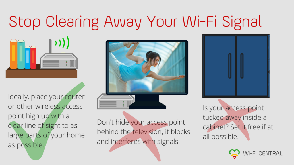Stop Clearing Away Your Wi-Fi Signal