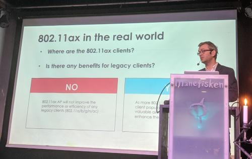 Tore R. Andreassen fra Zyxel snakket om wifi 6 / 802.11ax på årets Shared Insights